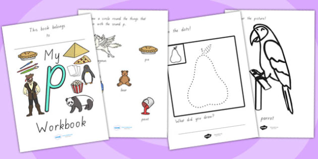 My Workbook P Lowercase - letter formation, writing, tracing