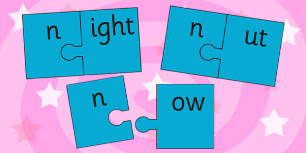 n And Vowel Production Jigsaw Cut Outs - n, vowel, jigsaw, sounds