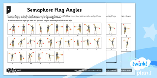 PlanIt Maths Y5 Properties of Shapes Semaphore Flag Angles Home Learning