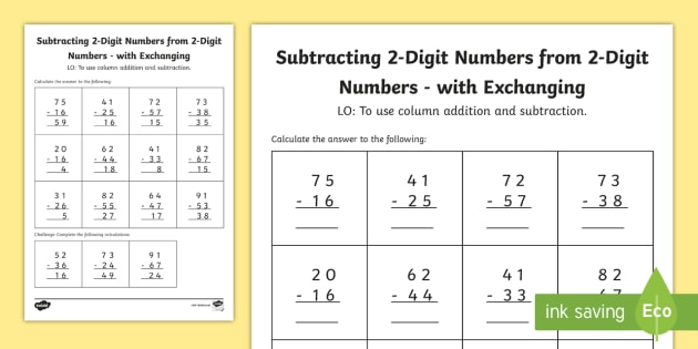 Year  Subtracting  Digit Numbers From  Digit Numbers In A