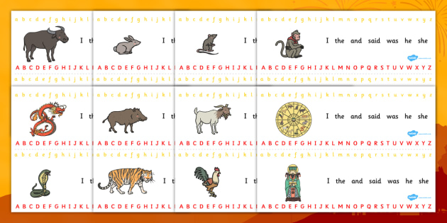 Chinese New Year Story Alphabet Strips - chinese, story