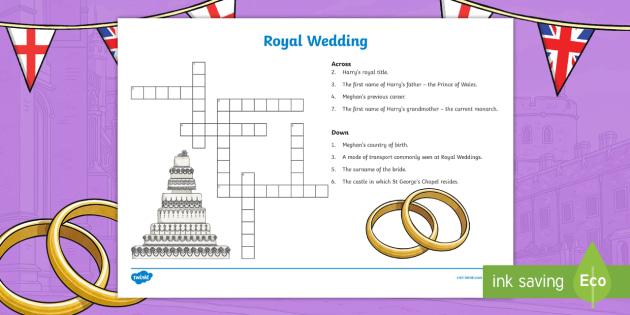 Ks2 royal wedding crossword prince harry meghan markle harry ks2 royal wedding crossword prince harry meghan markle harry and meghan puzzle ccuart Choice Image