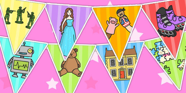 Toy Bunting - toy, bunting, toy display, bunting display, display