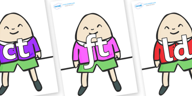 Final Letter Blends on Humpty Dumpty - Final Letters, final letter, letter blend, letter blends, consonant, consonants, digraph, trigraph, literacy, alphabet, letters, foundation stage literacy