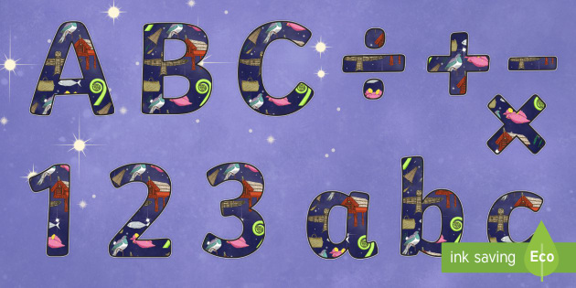 Matariki Display Letters and Numbers Pack - nz, new zealand, matariki, display letters, display numbers, pack