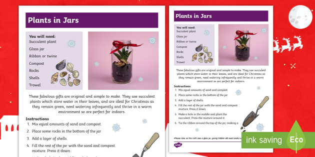 christmas plants in jars craft christmas crafts christmas fair making planting