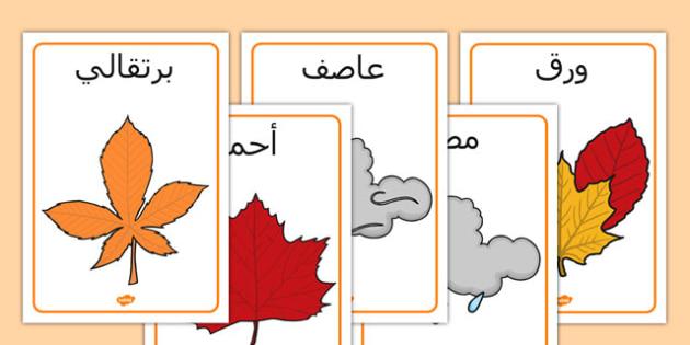 ملصقات عرض عن فصل الخريف - فصل الخريف، الخريف، موارد تعليمية