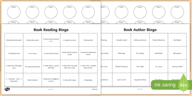 Book Reading Bingo Activity Sheet Pack - book, reading, read, bingo, activity, worksheet
