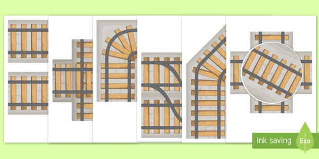 Print and Build Your Own Train Track - print, build, own, train track, train, track, print and build, activity