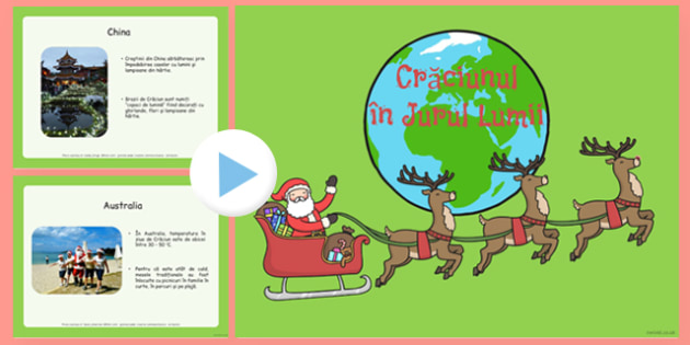 Crăciunul în jurul lumii - Prezentare PowerPoint