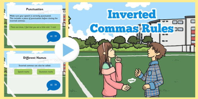 Inverted Commas Rules PowerPoint - inverted commas, rules, powerpoint, speech