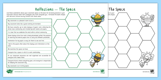 Managing My Class: Reflections - The Space - Adult Guidance - classroom