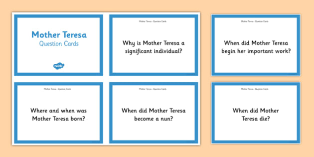 Mother Teresa Quick on the Draw Research Task - mother teresa, india, missionary, roman catholic, poor