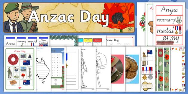 Anzac Day Resource Pack - anzac day, anzac, anzac day resources