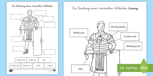 NEW * Die Rüstung eines römischen Soldaten Arbeitsblatt