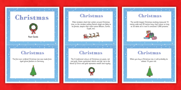 Christmas Display Fact Cards - christmas, display, facts, cards