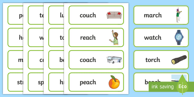 Final Ch Sound Word Cards - final ch, sound, word cards, cards