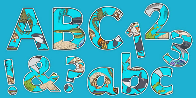 Under the Sea Display Letters and Numbers Pack