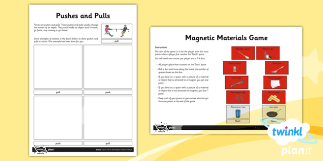 Science: Forces and Magnets Year 3 Unit Home Learning Tasks