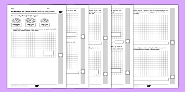 Key Stage 2 Reasoning Test Practice Multi-step Money Problems - KS2, Key Stage 2, Reasoning, Change, Money