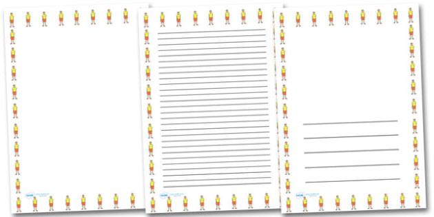 Life Guard Portrait Page Borders- Portrait Page Borders - Page border, border, writing template, writing aid, writing frame, a4 border, template, templates, landscape