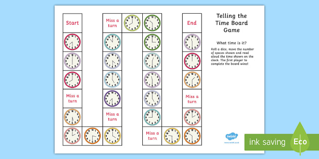 Telling the Time Board Game - Differentiated KS2 Clocks and Time Game