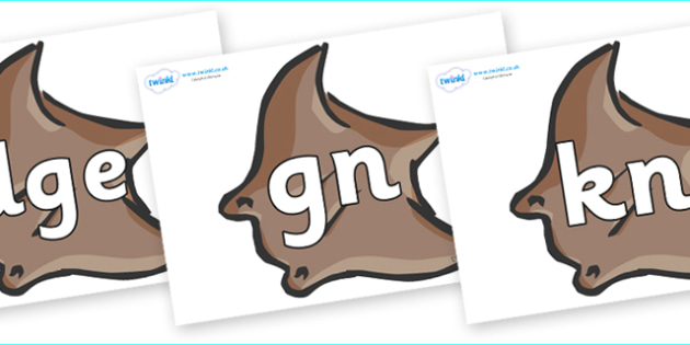 Silent Letters on Manta Rays - Silent Letters, silent letter, letter blend, consonant, consonants, digraph, trigraph, A-Z letters, literacy, alphabet, letters, alternative sounds