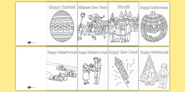 Colouring Celebration Greetings Cards - colouring, colour, celebration, greetings cards
