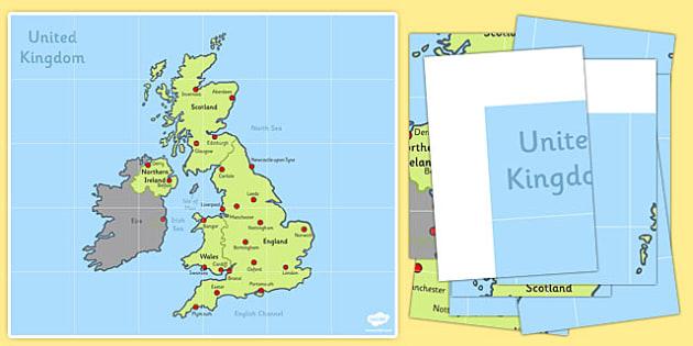 Bee Bot Mat UK Map - bee bot, mat, uk, map, beebot, bee, bot
