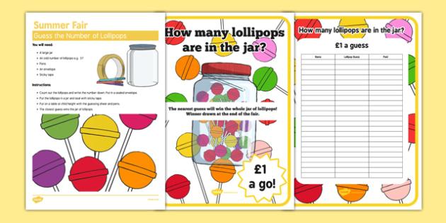 Elderly Care Summer Fair Guess the Number of Lollipops - Elderly, Reminiscence, Care Homes, Summer Fair