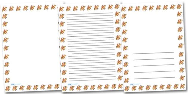 Cute Pteradactyl Portrait Page Borders- Portrait Page Borders - Page border, border, writing template, writing aid, writing frame, a4 border, template, templates, landscape