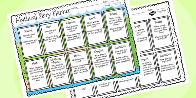 Mythical Story Planner - mythical, story, planner, myths, stories