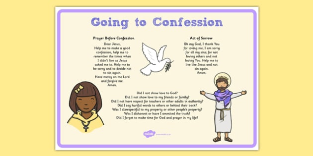 My First Confession Penance Prompt Card - prayers, questions, church, confession, roi, religion, religious, education, roi, republic, ireland, irish, first confession , penance , reconciliation , examination of conscience , sins , forgiveness