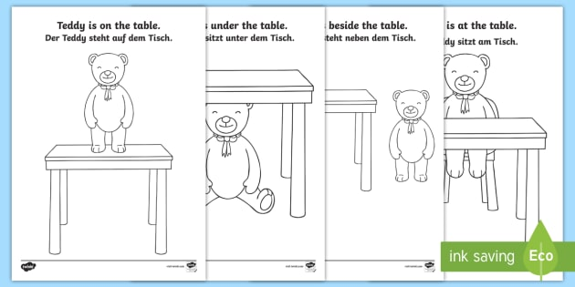 Teddy bear prepositions colouring pages englishgerman teddy bear prepositions colouring pages englishgerman preposition grammar vocabulary german ccuart Images