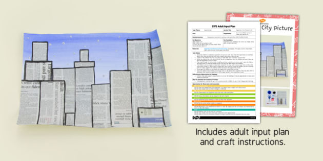 Superhero City Picture EYFS Adult Input Plan and Craft Pack