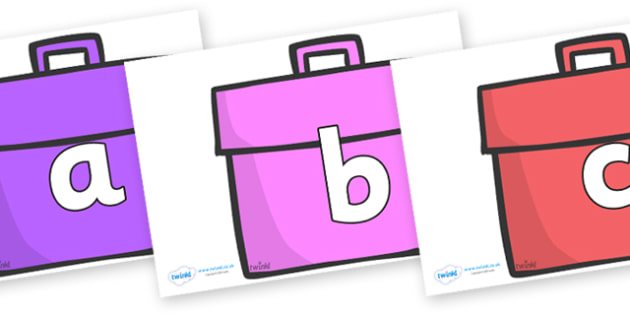 Phoneme Set on Book Bags - Phoneme set, phonemes, phoneme, Letters and Sounds, DfES, display, Phase 1, Phase 2, Phase 3, Phase 5, Foundation, Literacy