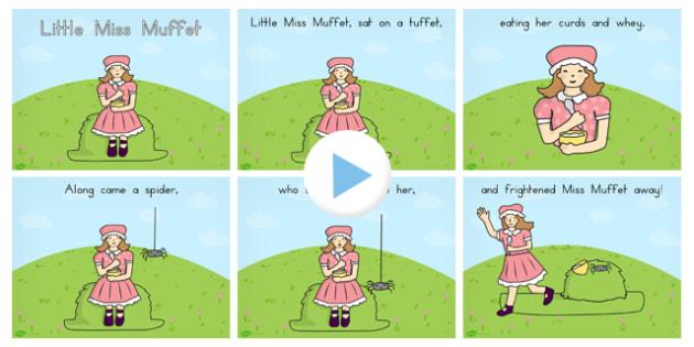 Little Miss Muffet Story PowerPoint - australia, story, muffet
