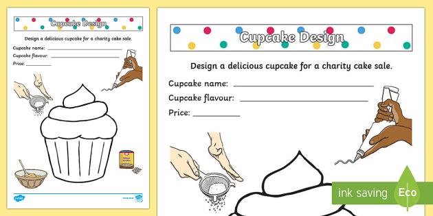 Design A Spotty Cake Worksheet Activity Sheet
