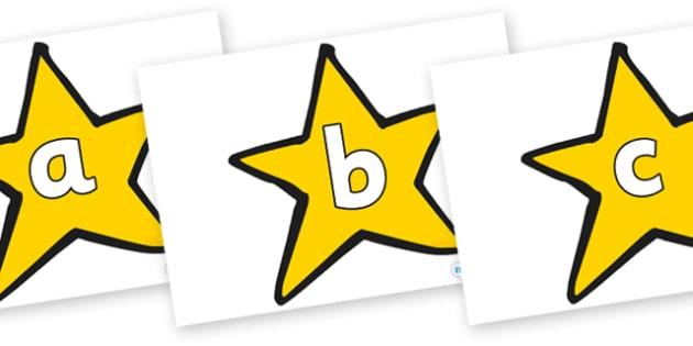 Phoneme Set on Stars (Plain) - Phoneme set, phonemes, phoneme, Letters and Sounds, DfES, display, Phase 1, Phase 2, Phase 3, Phase 5, Foundation, Literacy