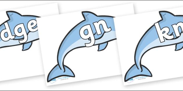 Silent Letters on Dolphins - Silent Letters, silent letter, letter blend, consonant, consonants, digraph, trigraph, A-Z letters, literacy, alphabet, letters, alternative sounds