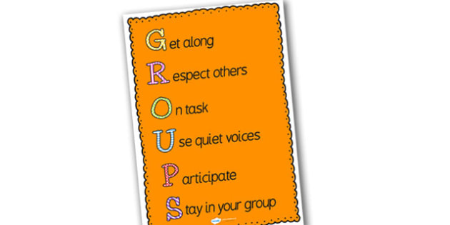 Group Time Poster Large - groups poster, group time poster, a2 groups poster, groups display poster, a3 groups display poster, working in groups