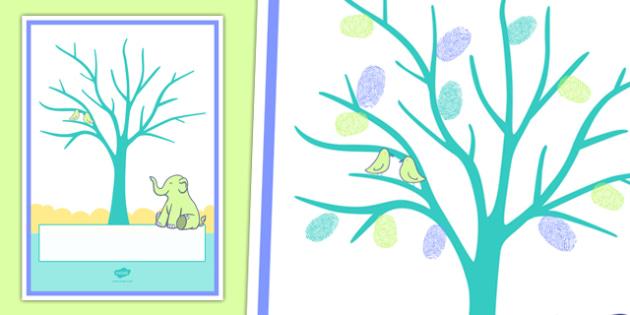 Baby Fingerprint Tree A4 Display Poster