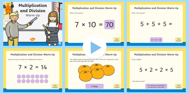 year 2 multiplication and division maths warm up powerpoint ks1 maths warm. Black Bedroom Furniture Sets. Home Design Ideas