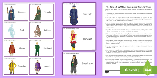 an overview of the character prospero in the play the tempest by william shakespeare Play location maps shakespeare's characters the history plays  here is a brief plot summary of the tempest:  prospero used his magic abilities to rescue him .