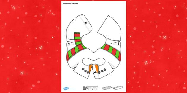 Christmas Snowman Bee Bot Jacket - program, programming, robot, toy, cover, model, computing, it, ict, fun, interactive, change, add, topic,
