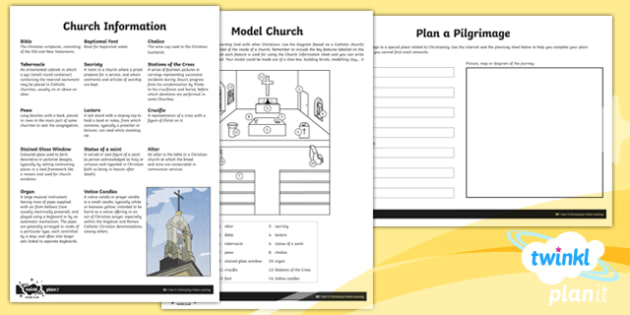 RE: Christianity Year 4 Home Learning Tasks
