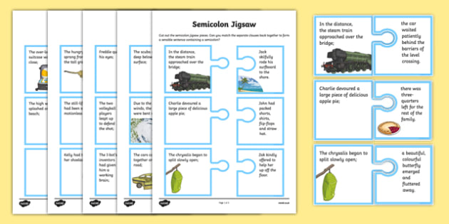 Semicolon Jigsaw Game