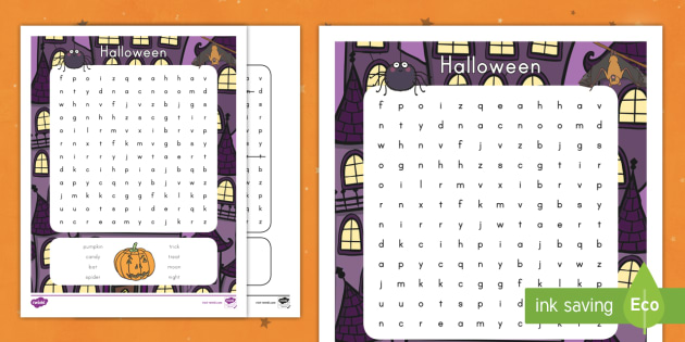 halloween word search topic spooky fun and games searching finding