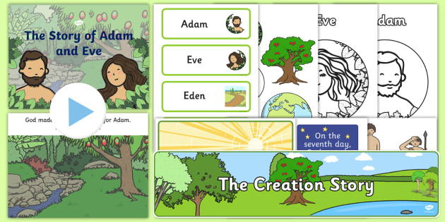 the story of adam and eve in the book of creation Genesis has contradictory accounts of when and how eve, the first woman, was created the bible's first creation story says that eve was created at the same time as adam the bible's second creation story says that adam was created first, then all the animals were created, and finally eve was .
