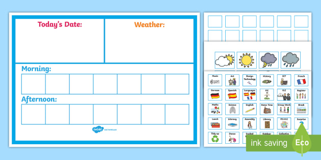 Daily Visual Schedule - Classroom Schedule Printables